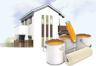 塗装の目的は美観だけでなく家の保護のイメージ